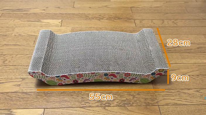 猫壱 バリバリ ベッド L|外観と付属品