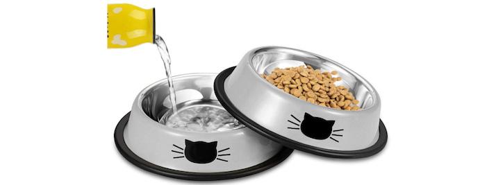 7位-【Iontek】-ステンレス-猫皿-ペット碗-可愛い猫柄