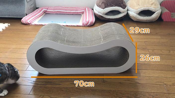 くらふと工房クレアル 猫の爪とぎ 穴あき枕|外観と付属品