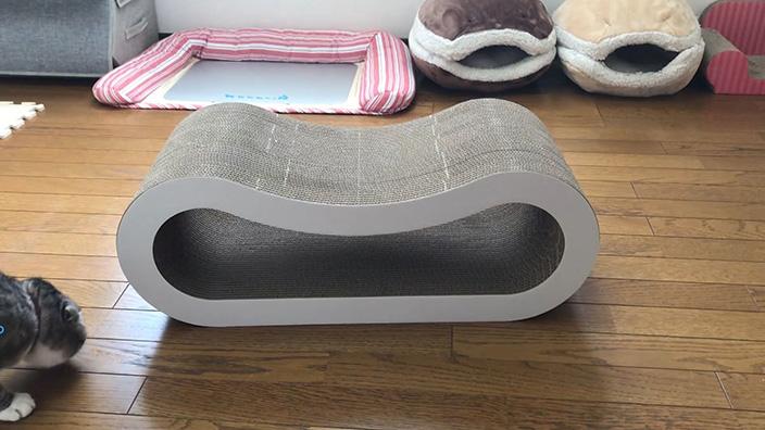くらふと工房クレアル 猫の爪とぎ 穴あき枕|ねこぞーのレビュー・評価・口コミ・おすすめポイント