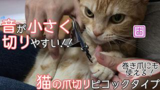 【廣田工具製作所 爪切り ピコックタイプ レビュー】切る時の音が小さくて扱いやすく巻き爪にも使える猫の爪切り【動画あり】